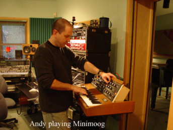 Andy with Moog
