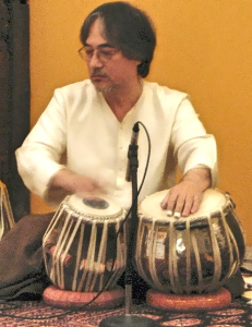 Ray on tabla drum